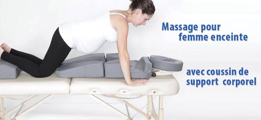 Massage pour femme enceinte - Coussin corporel
